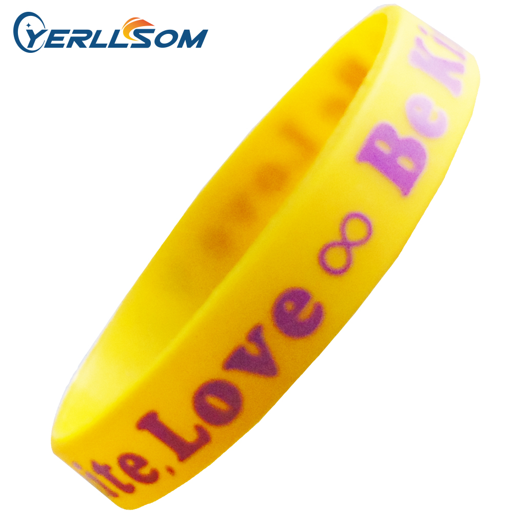 YERLLSOM 1000pcs/Lot High Quality Customized Personal Printed event wristbands silicone  P042002