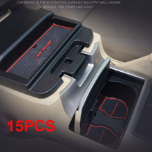 15 UNIDS De Goma Antideslizante Puerta Interior Mat Para Toyota Land Cruiser V8 200 2008-2015 FJ200 LC200 accesorios