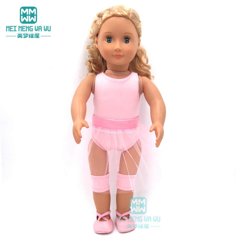 Boneca roupas para 43 cm-45 centímetros boneca Americana e novo bebê nascido boneca da moda pijama vestido de Princesa