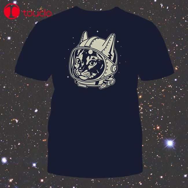 High Quality Printing Tee New Retro Astro Cat Shirt, Mens/Unisex & Fitted Womens, Funny Space Cosmonaut Man T-Shirt Hoodies