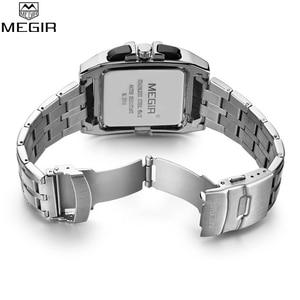 Image 5 - Mens Watches Top Brand Luxury Megir Chronograph & Auto Date Waterproof Stainless Steel Strap Outdoor Sport Wrist Watch Clock