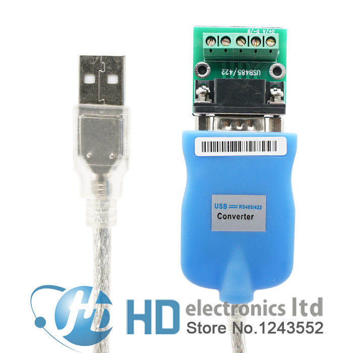 USB 2.0 to RS-485/-422 RS485/RS422 Adapter Converter Cable, Chipset of FT232 rs232 to rs485 converter with optical isolation passive interface protection