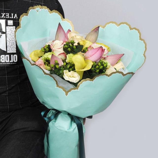 Fresh flower wrapping paper ukrandiffusion heart rippled edge florist flower packing paper fresh korean mightylinksfo