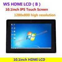 WS 10.1 inç HDMI LCD (B) (durumda ile) IPS Dokunmatik Ekran sürücü Demo 1280x800 yüksek çözünürlük Destekler tüm Ahududu PI & Çok mini-PC