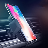 10W QI Fast Wireless Car Charger Infrared sensor phone holder vent car holder mobile phone support for iPhone X XS MAX Samsung