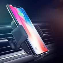 10W QI Fast Wireless Car Charger Infrared sensor phone holder vent car mobile support for iPhone X XS MAX Samsung