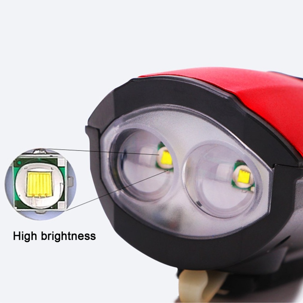 Perfect 2018 New Universal USB Rechargeable Bike Light Loud Sound Bicycle Bell Light Waterproof Super Bright LED Lamp Front Headlights 1