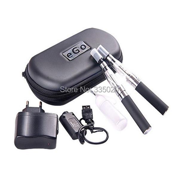 eGo CE4 Double Electronic Cigarette Starter Kits 650mAh 900mAh 1100mAh eGo-T Battery with CE4 Atomzier eGo Zipper Kit