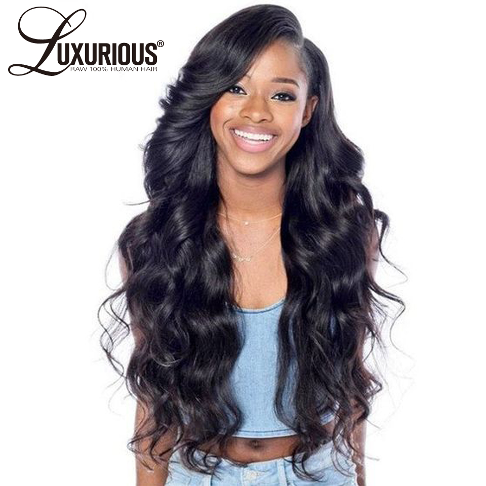 Pre Plucked Lace Front Human Hair Wigs With Baby Hair Body Wave Peruvian Remy Human Hair Innrech Market.com
