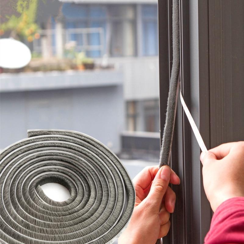 Flexible 3 M Self Adhesive Window Sealing Tape DIY Cut Dustproof Soundproofed Door Gap Seal Strip Hardware Accessories