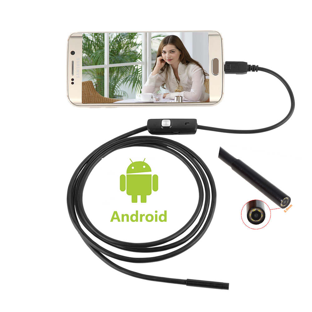 HD 960P 2MP 8mm Android USB Endoscope Camera 6 LED Snake Flexible USB Endoscope 1M 2M 3.5M 5M Android OTG USB Borescope CameraHD 960P 2MP 8mm Android USB Endoscope Camera 6 LED Snake Flexible USB Endoscope 1M 2M 3.5M 5M Android OTG USB Borescope Camera