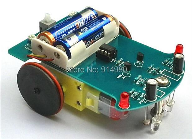 Intelligent tracking car kitD2 1line patrol car parts electronic ...