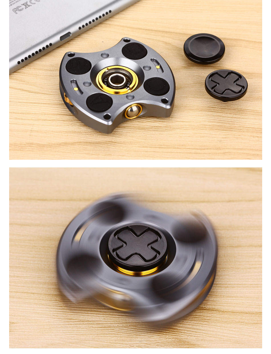 Do Dower Finger Spinner Metal Multifunctional New Design Decompression EDC Cube Fidget Spinner With Buttons Hand Finger Toy ADHD