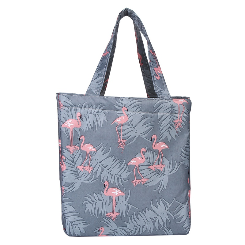 New Fresh Insulation Lunch Bag Thermal Oxford Lunch Box Waterproof Convenient Leisure Bag Cute Flamingo Cuctas Tote 1PC