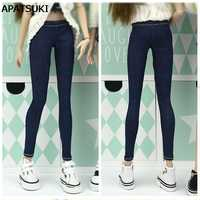 Elastische Jeans Böden Hosen Lange Hosen Für Barbie Puppe Kleidung Mode Outfit Shorts Für Blythe 1/6 BJD Puppen Zubehör