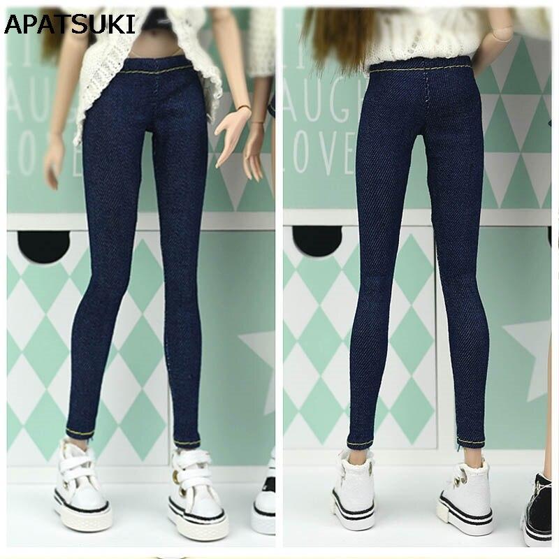Jeans élastiques pantalons longs pantalons pour poupée Barbie vêtements mode tenue Shorts pour Blythe 1/6 BJD accessoires de poupées
