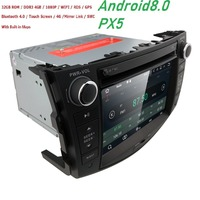 8OctaCore 4+32 Car DVD 2 din Android 8.0 For Toyota Rav4 2007 2012 2din car pc stereo gps navigation with capacitive screen+wifi