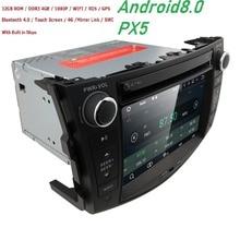 8 OctaCore 4 + 32 автомобильный DVD 2 din Android 8,0 для Toyota Rav4 2007-2012 2din ПК автомобиля стерео gps-навигация с емкостный экран + wifi