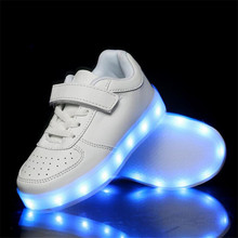 four seasons Kids Sneakers Boys Girls Fashion LED Lights USB Charging Luminous Children Comfortable shoes Student