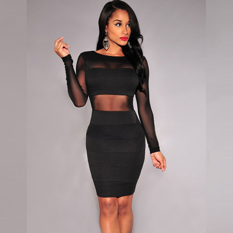 long sleeve club dresses xl