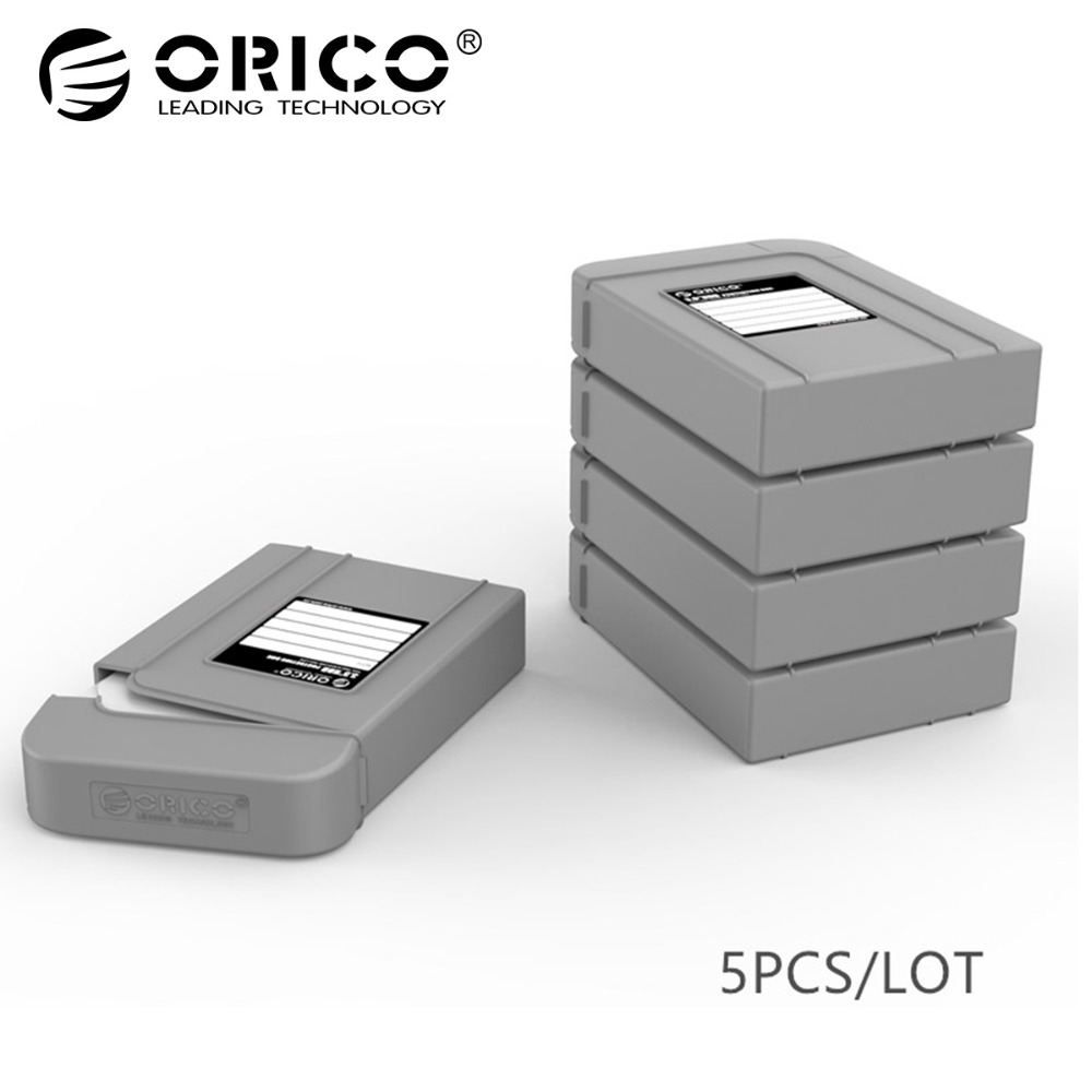 ORICO PHI-5S-GY Simple HDD Protector Box for 3.5 Inch HDD Case with Waterproof Function 5 pcs/lot-Gray цена