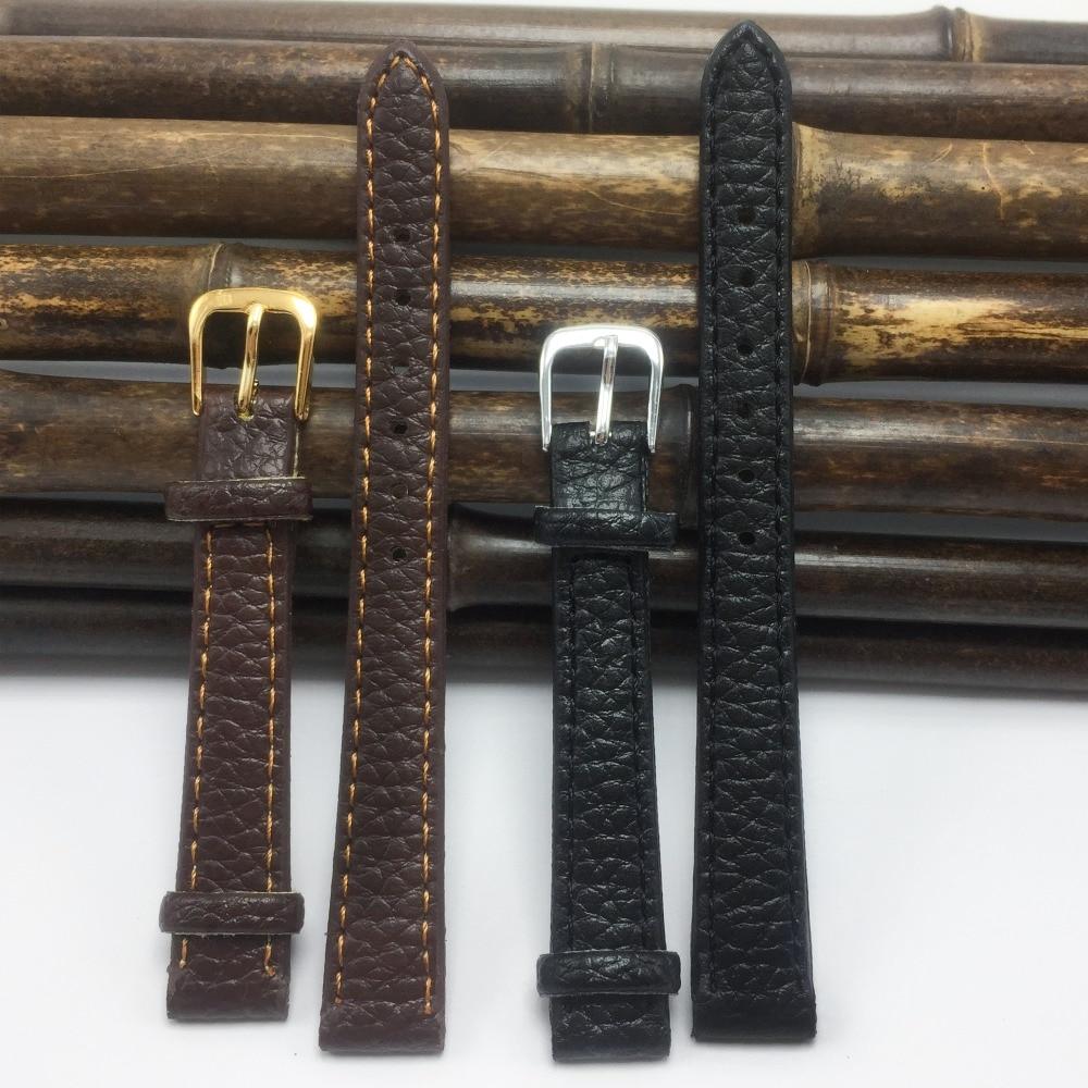"""להקות שעון קו ליצ'י 12 מ""""מ צמידים ושעוני להקות שעון 2020 אופנה נשית שחורה 12 רצועות רצועות דק pulseira A007-1"""