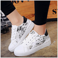 Pu Leather Women Shoes Casual Shoes Femlae Comfortable Fashion printing single shoes Size 35-40 #9902