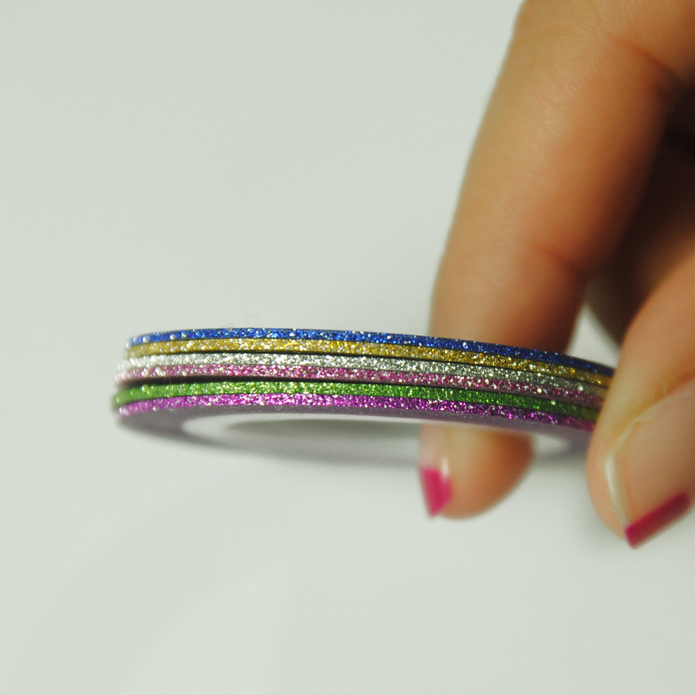 14 Teile/satz Nagel Glitter Sticker Rolls klebeband linie Nagel ...
