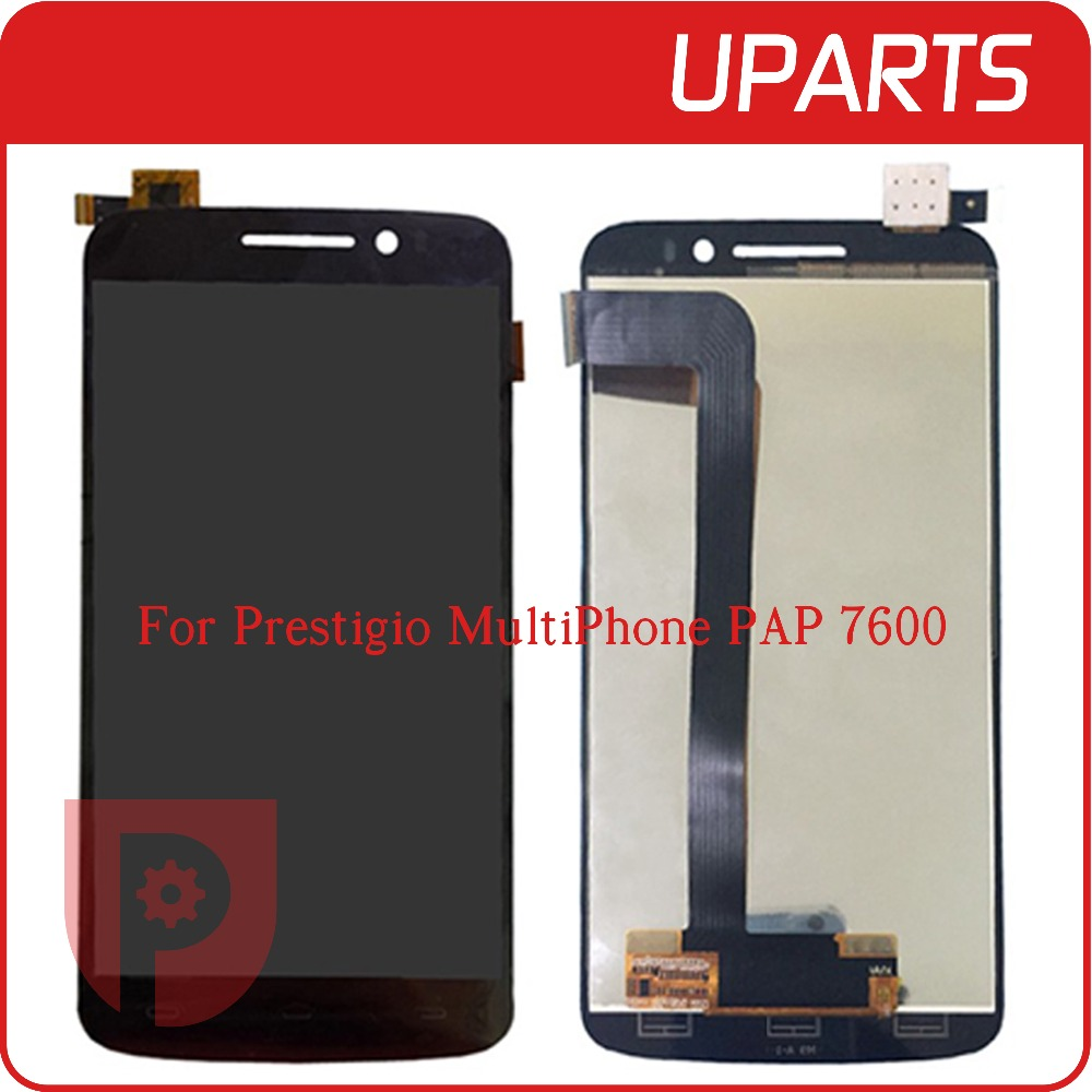 ФОТО 5Pcs/Lot Top Quality For Prestigio MultiPhone PAP 7600 PAP7600 DUO LCD Display Touch Screen Glass Digitizer Assembly Replacement