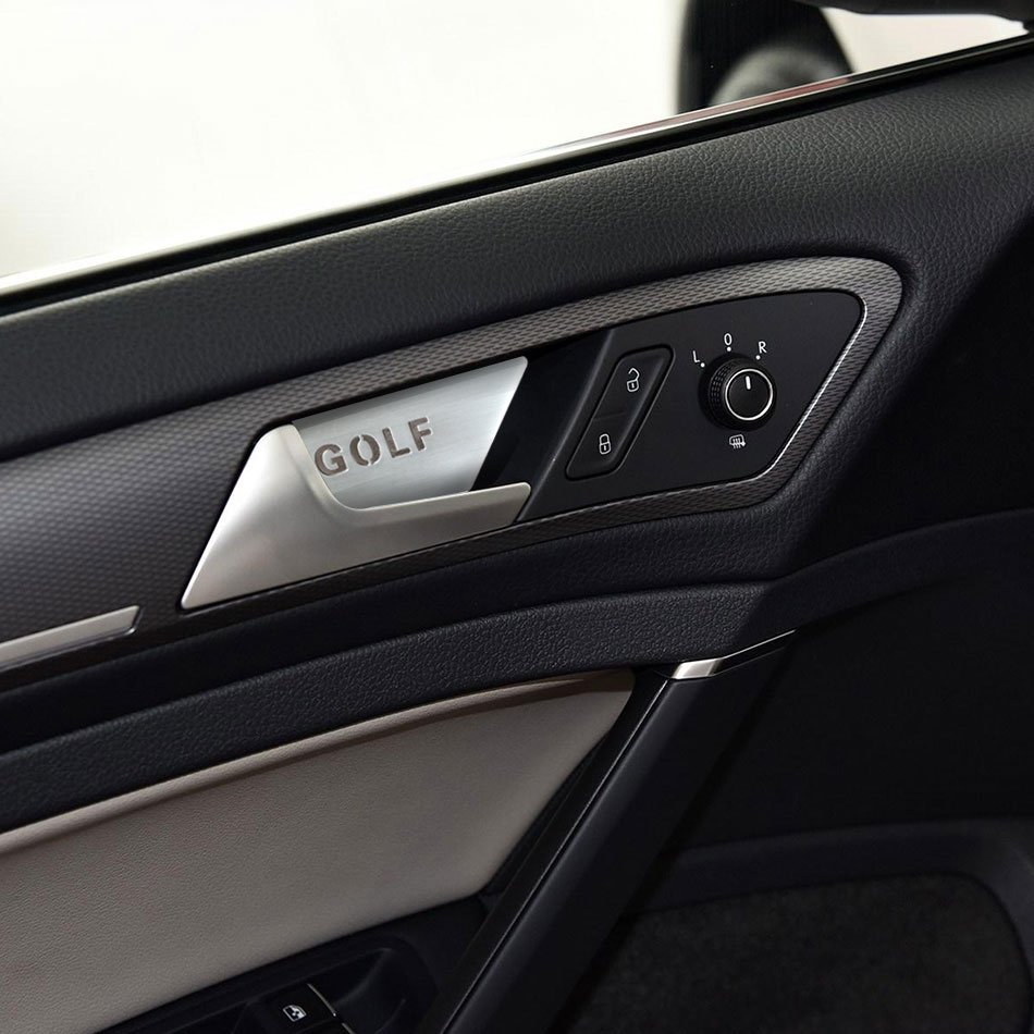 4 Pieces/Set Aluminum Car Inner Door Handle Bowl Cover Sticker Case For Vw Golf 7 MK7 2014 - 2017 Accessories