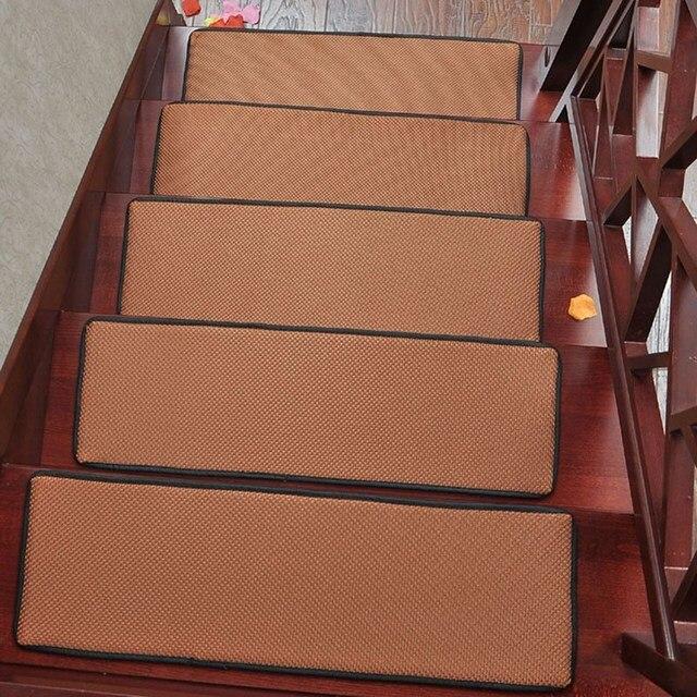 Top Venda Retângulo Tapete Da Escada Não-Slip Tapetes Tapetes de Cor Sólida Respirável para