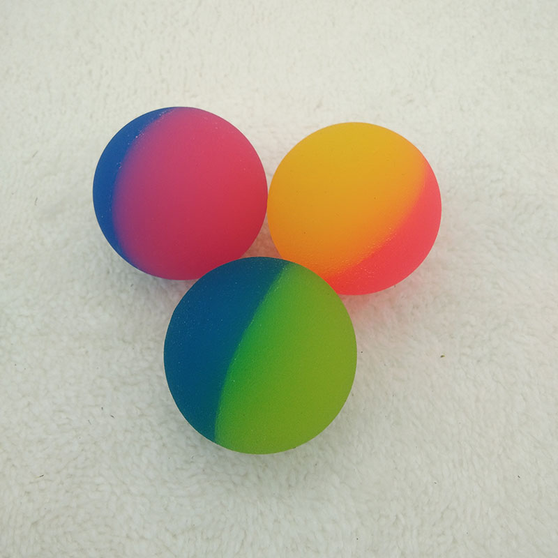 20pcs Rubber Bouncing Balls Bouncy Double Color  Jumping Ball For Children Bathing Float Juggling Pinball Toy Kids Outdoor Game