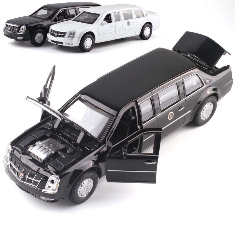 High Quality 1:32 Cadillac DTS President Car Model,simulation Die-cast Sound And Light Pull Back Collection Model,free Shipping