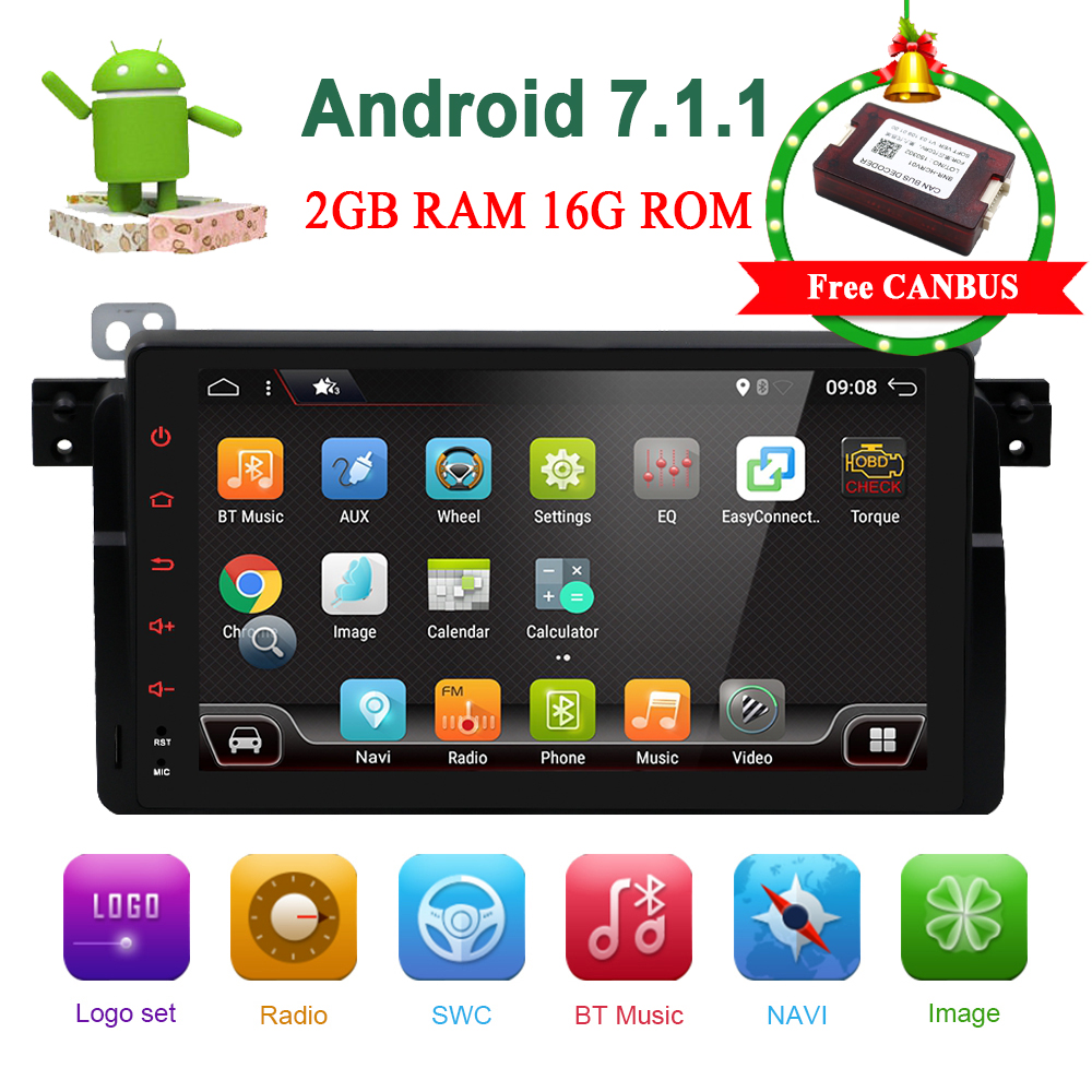 Bosion 9inch Car Multimedia For BMW E46 3 Series M3 GPS Navigation Radio SWC WIFI Bluetooth 4G AUX RDS FM AM Free CAN Decoder