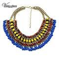 Vodeshanliwen Bohemia Gotas de Resina Burbuja Collares y Colgantes Joyería de Las Mujeres de Moda Marca Collar Antiguo Collar de la Declaración