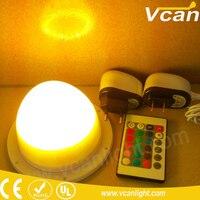 Işıklar ve Aydınlatma'ten Tatil Aydınlatması'de 100 ADET En Kaliteli 120mm Şarj Edilebilir RGBW LED Bulblite top lamba su geçirmez LED Küre altında masa lambası düğün için