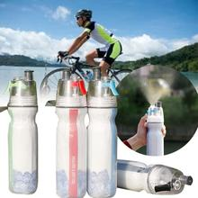 Bike Bicycle Double Deck Spray Water Bottle Cold Insulation Outdoor Sports