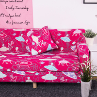 Printing Music Note Sofa Cover For Furniture Soft Universal Seat Capes Pink Cotton Slipcovers Couch Covers