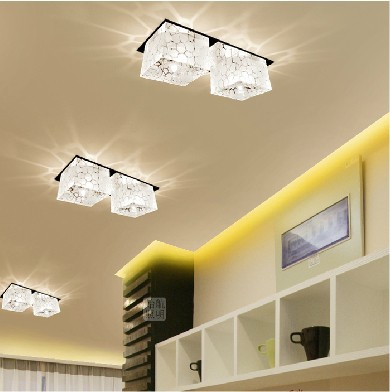 Colorpai 2w crystal ceiling lamps corridor light hallway lamp for home lighting fixture hallway light led 220v 20m led abajur in ceiling lights from lights