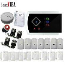 SmartYIBA Wireless Wired GSM SMS Home Burglar Security Alarm System Gas Smoke Fire Sensors Spanish Russian