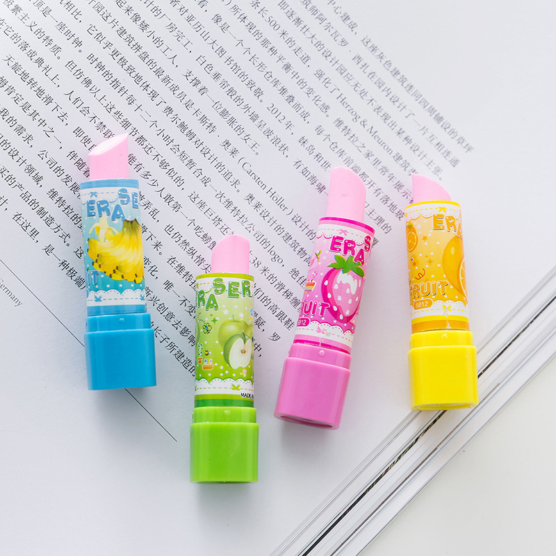 DL Stationery Pupil Learning Stationery Creative Lipstick Eraser Lovable Child Prize