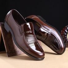 Fashion Slip-on Dress Men Shoes 2018 New Classic Black Mens Business Suits Flats