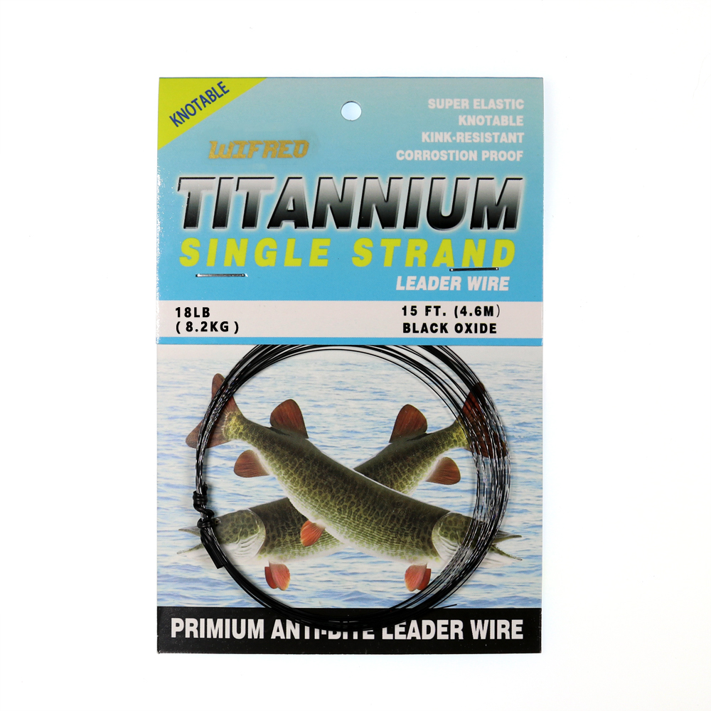 Titanium multi-Strand Wire PIke Trace Snap Fishing Tackle For Treble Hooks