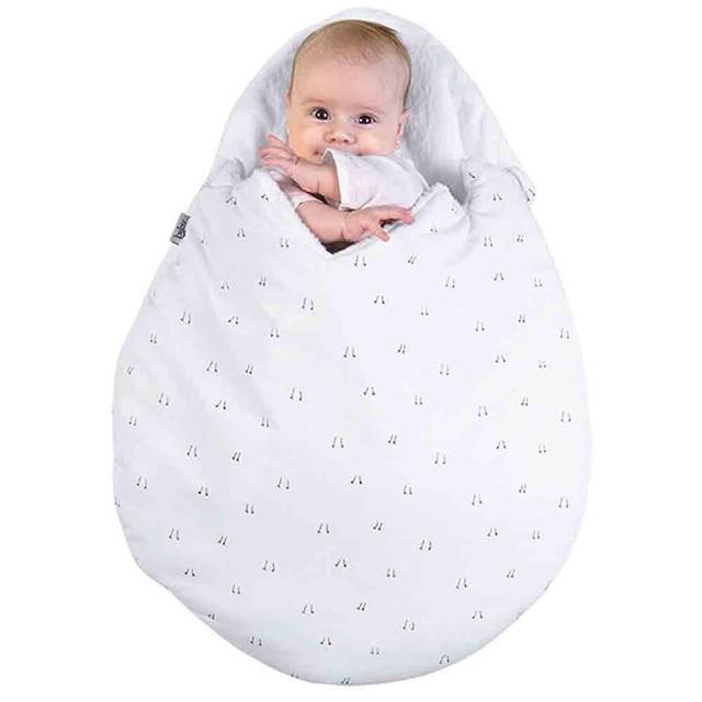 Newborn Baby Cartoon Egg Shape Sleeping Bag Winter Stroller Bed Swaddle Blanket Wrap Bedding Sleep Bag Thick Infant Warm Swaddle