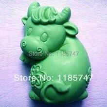 3D формы быка silione Мыло Плесень мыло в форме животного формы украшения силиконовые формы