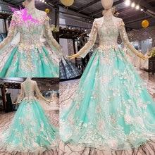 AIJINGYU Two Piece Wedding Dress Lace Sexy Bridal Gown