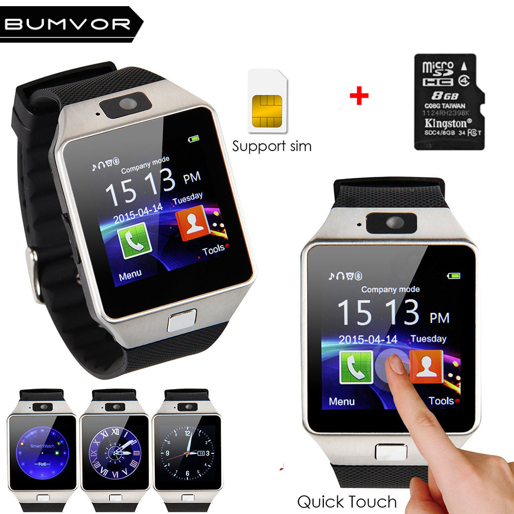 2018 Original Bluetooth DZ09 Smart Watch Call/SMS SIM Card Camera Intelligent Wrist Phone Watches For Android Wear Smartwatch