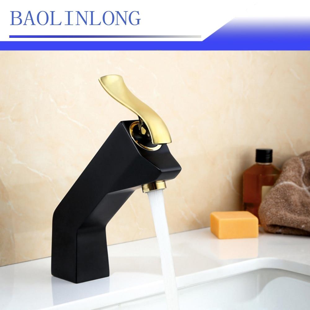 BAOLINLONG News Style Brass Deck Mount Basin Bathroom Faucets Vanity Vessel Sinks Mixer bath faucet Tap