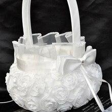 Satin Basket for Wedding Ceremony