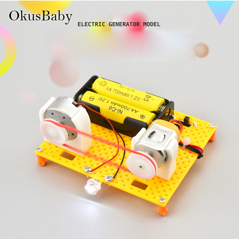 DIY Craft Toys Children Educational Plastic Generator Model Assemble Toys Set Electric Student Learning School Lessons Tool